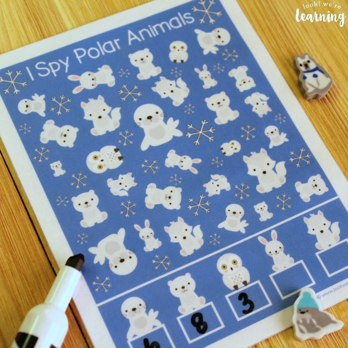 Polar Animals I Spy Activity for Kids