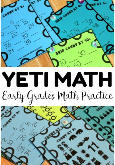 Practice counting, recognizing inequalities, and more with this Yeti-themed Math Practice Lesson for early grades!