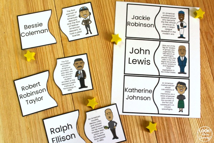 Printable Black History Figure Puzzles for Kids
