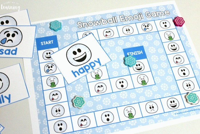Printable Emotions Board Game for Kids