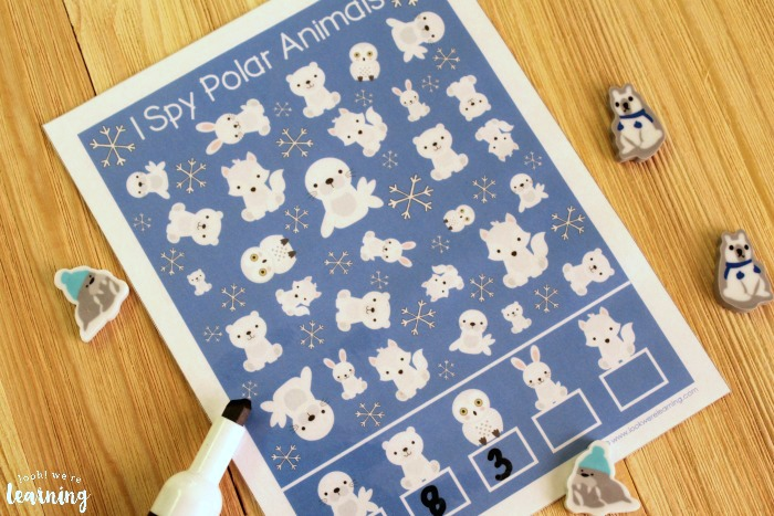 Printable I Spy Polar Animals Activity for Kids