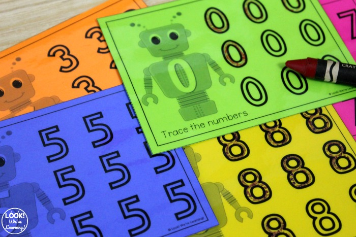 Printable Number Tracing Worksheets for Kids