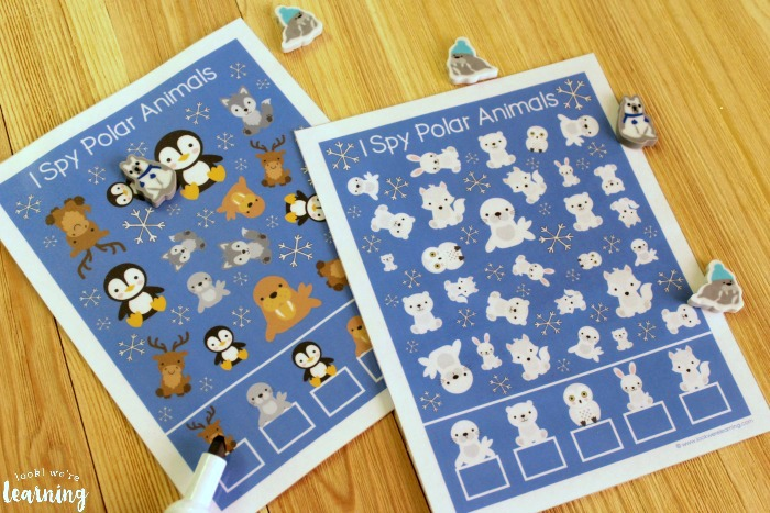 Printable Polar Animal I Spy Activity for Kids