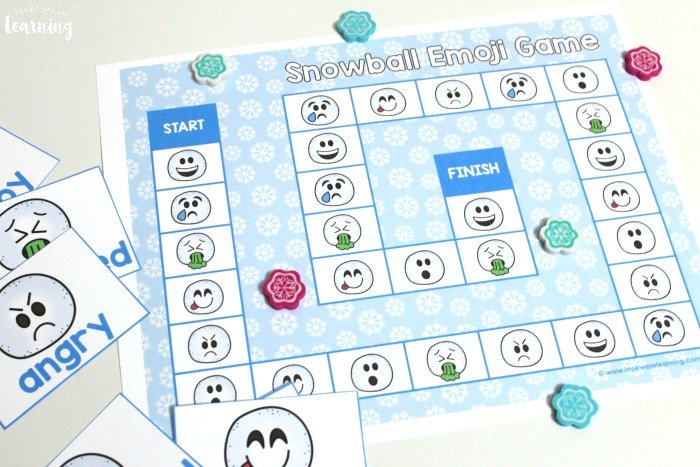 Printable Snowball Emoji Game for Kids