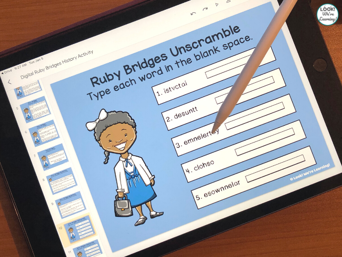 Ruby Bridges Digital Elementary Lesson