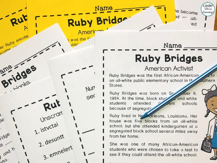 Ruby Bridges History Lesson for Kids