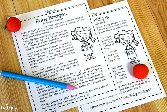 Ruby Bridges Mini History Lesson for Kids