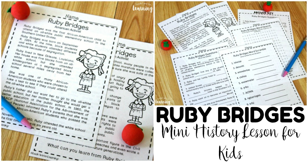 Simple Mini Ruby Bridges History Lesson for Kids