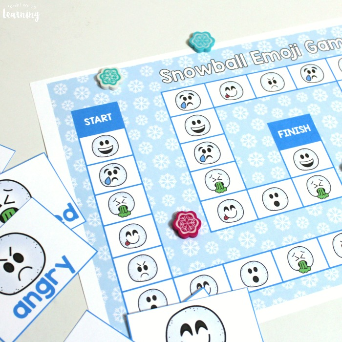 Snowball Emoji Board Game for Kids