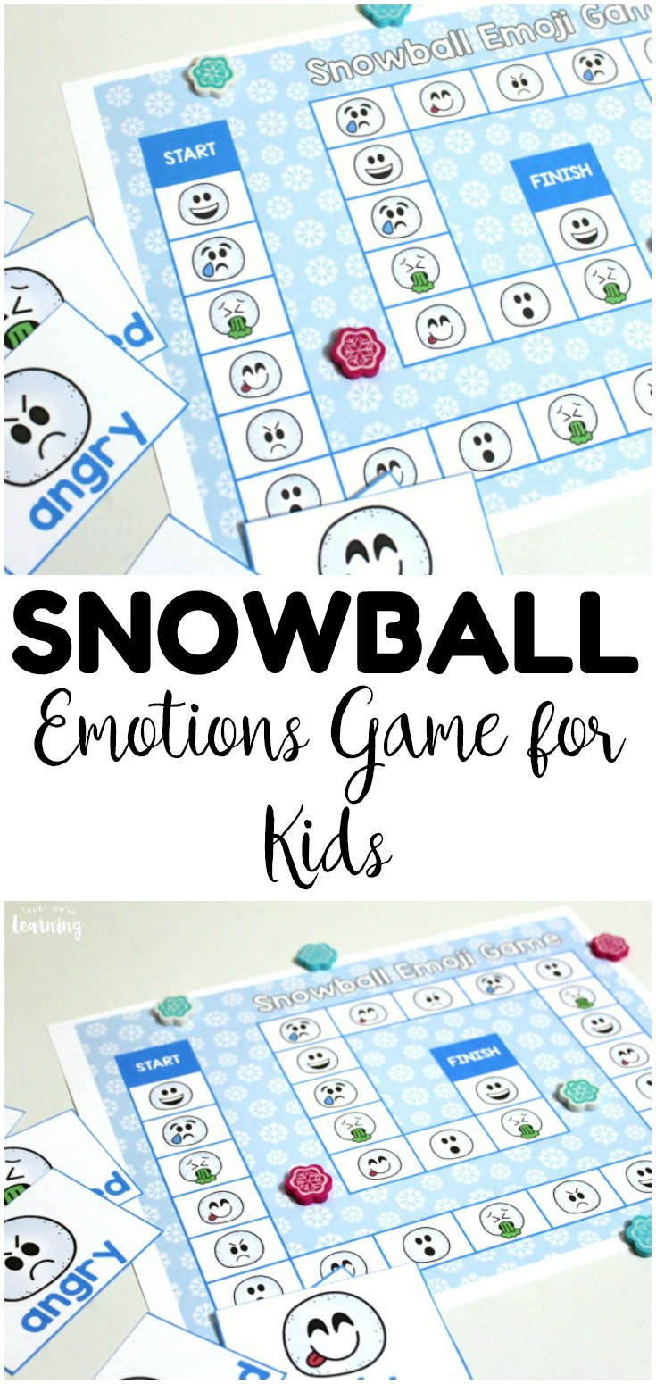 This printable snowball emotions game for kids is a fun way to help students develop their emotional vocabulary! Use it as a winter activity to help students build empathy!