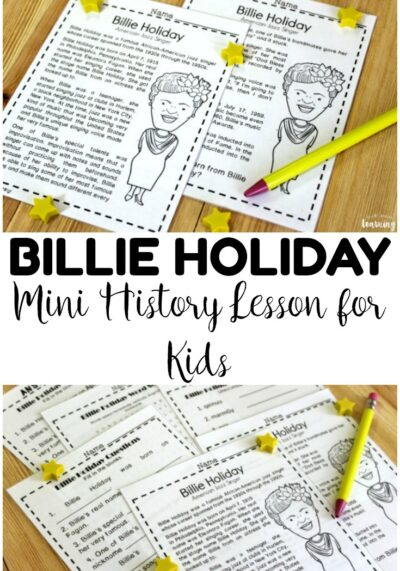 Teach students about early jazz history with this mini Billie Holiday history lesson for kids! A great addition to a music history unit!