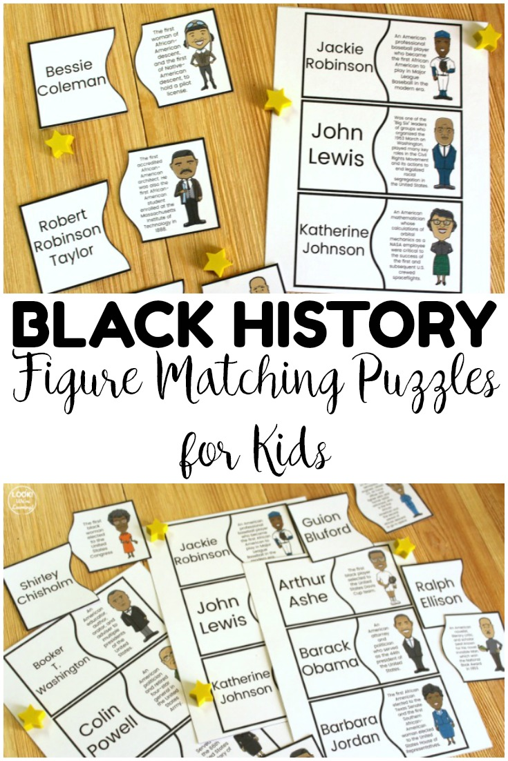 Teach students about important African American contributions to history with these black history figure puzzles! Great for a hands-on history activity!
