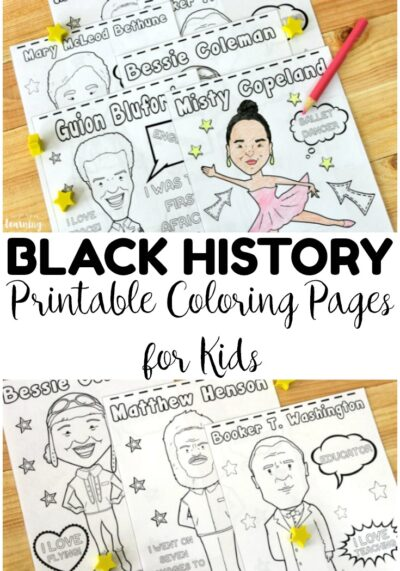 These black history figure coloring pages are so fun for introducing kids to important black Americans! Great for Black History Month!