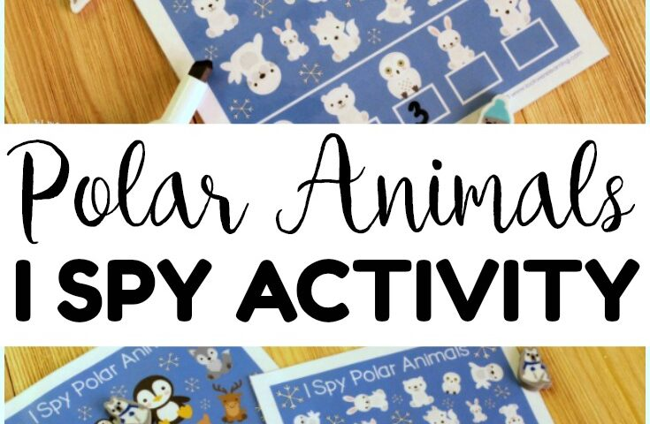 Polar Animals I Spy Activity for Kids
