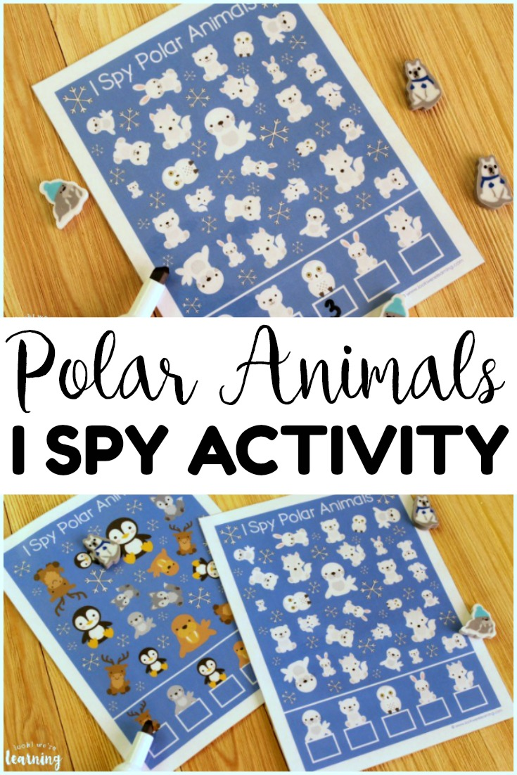 This Polar Animal I Spy Activity is so much fun for little learners! Great for a preschool or kindergarten winter unit!