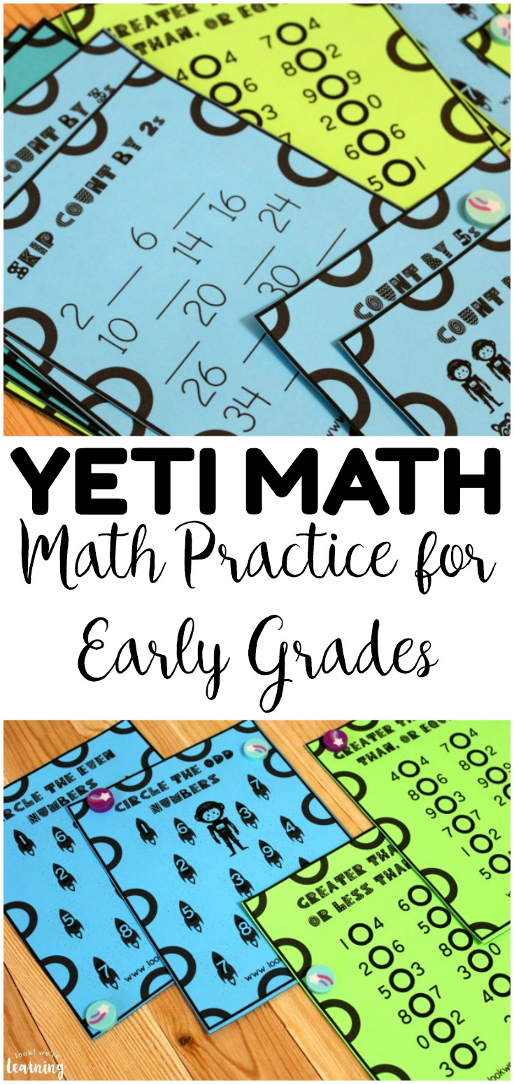 This Yeti-themed Math Practice Lesson is great for helping early grade students practice counting, inequalities, and more!