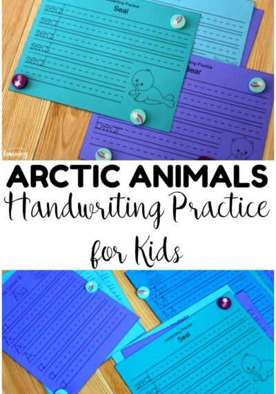 This set of Arctic Animal handwriting practice sheets is great for winter penmanship work!