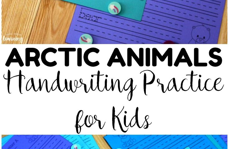 Arctic Animals Handwriting Practice Sheets for Kids
