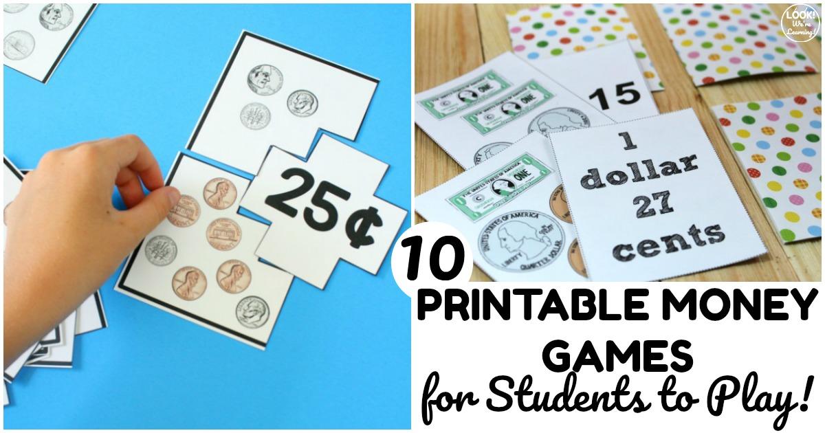 10 Fun Printable Money Games for Kids