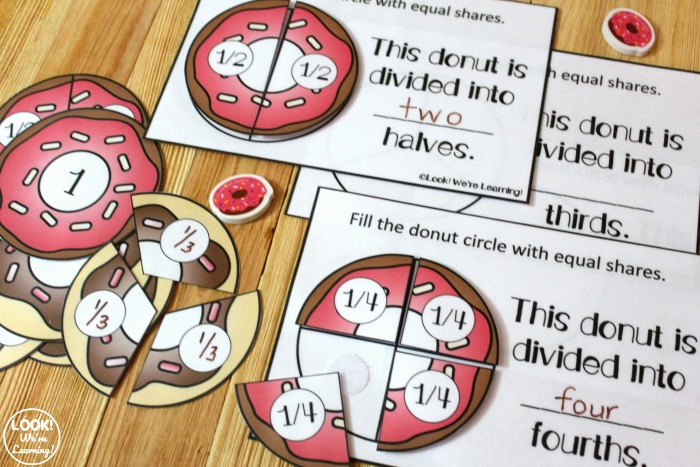 Donut Making Equal Shares Activity for Kids