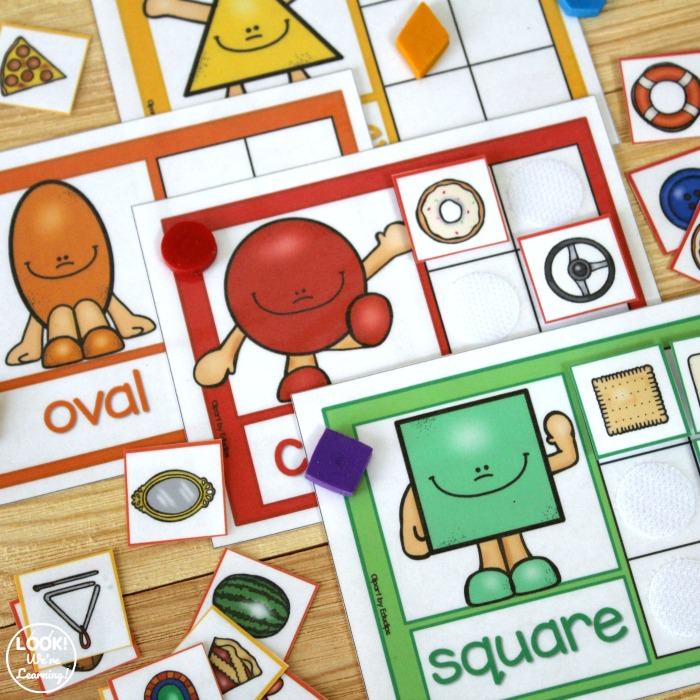 Hands On Preschool Shape Sorting Activity