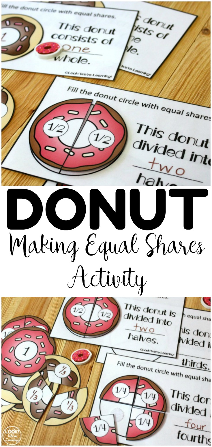 Help students learn how to divide circles evenly with this hands on Donut Making Equal Shares Activity! Great for early grade math centers!