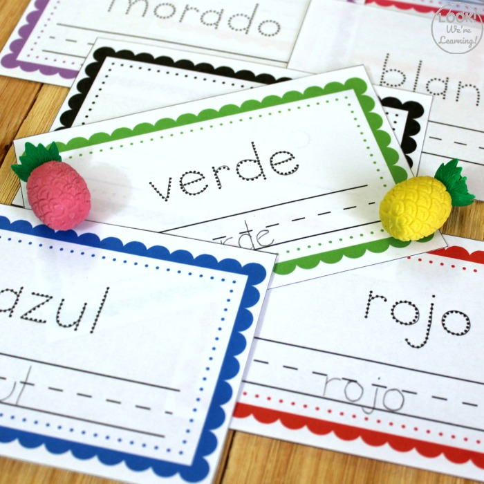 Little Spanish Color Words Book for Kids