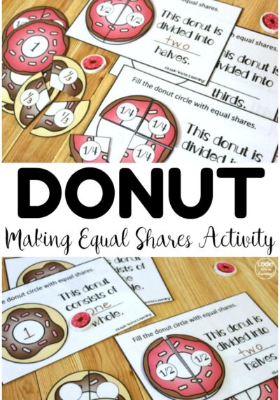 Make equal parts with this Donut Making Equal Shares Activity for early grades! Perfect for math centers!