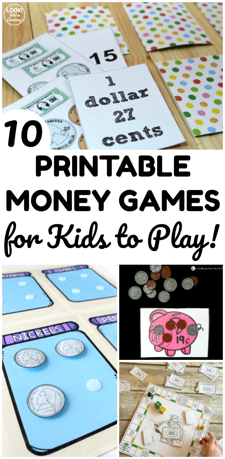 Make learning about money fun with these printable money games for kids to play! Perfect for a quick math lesson!