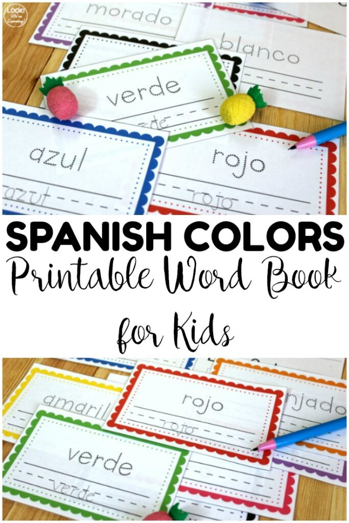 Pick up this printable Spanish colors word book to help early learners practice reading and writing colors in Spanish! Great for literacy centers too!