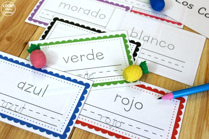 Printable Little Spanish Colors Word Book for Kids