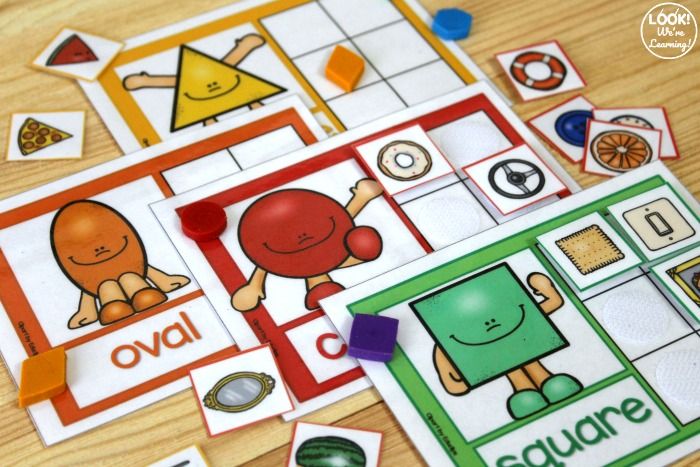 Printable Shape Sorting Activity for Preschoolers