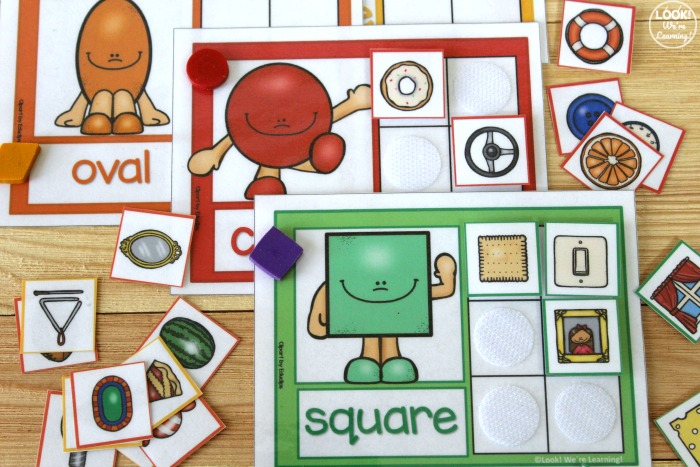 Printable Shape Sorting Mats for Preschoolers