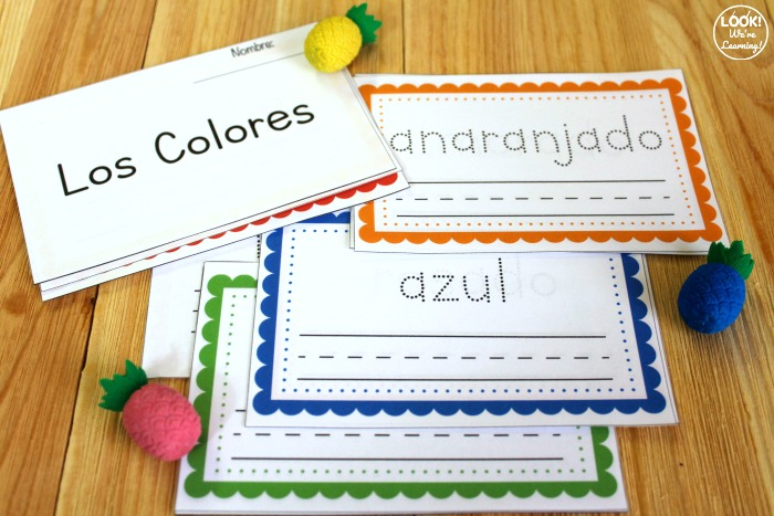 Printable Spanish Color Word Book for Kids