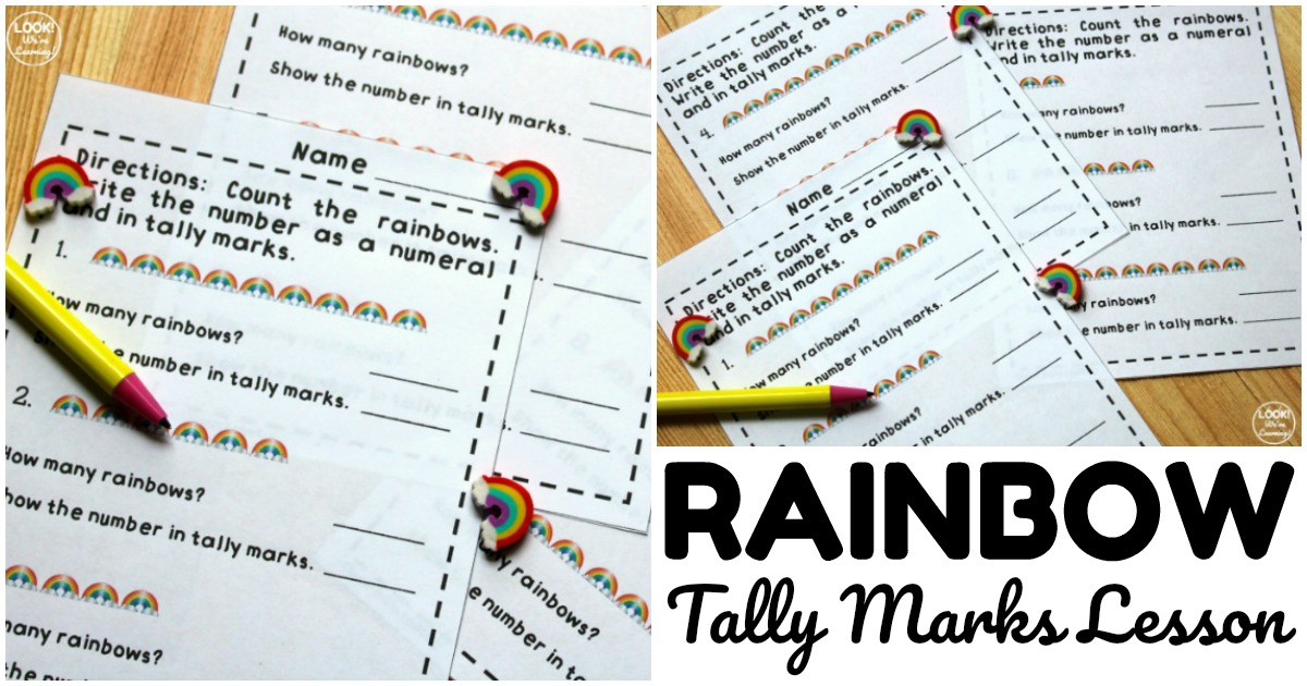 Simple Rainbow Tally Marks Counting Lesson