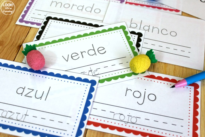 Spanish Colors Word Book