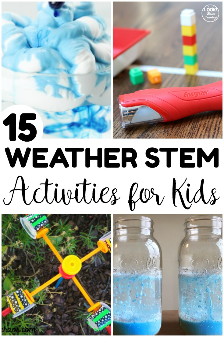 These fun weather STEM activities for kids are excellent for simple spring science experiments! Simple enough for home or the classroom!