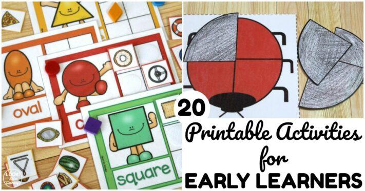 20 Fun Printable Preschool Resources