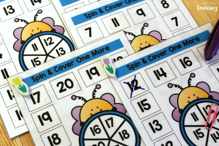 Bee Spin and Cover Counting Worksheets