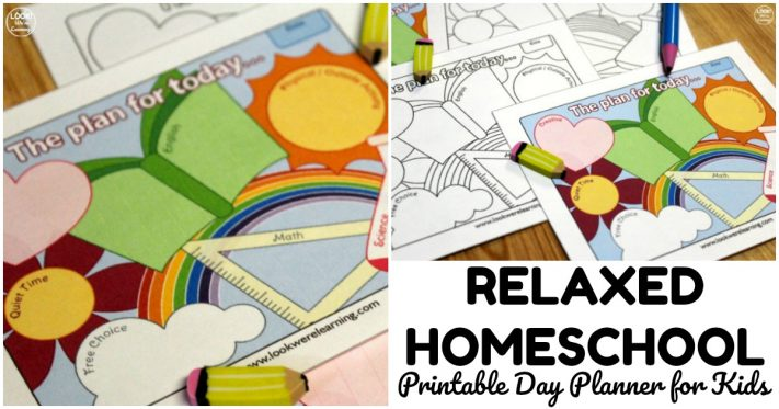 Cute Printable Homeschool Day Planner for Kids