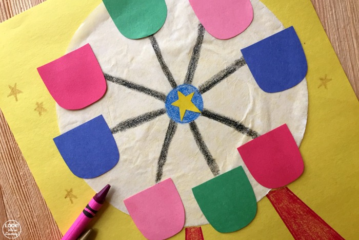 Easy Coffee Filter Ferris Wheel Craft for Kids