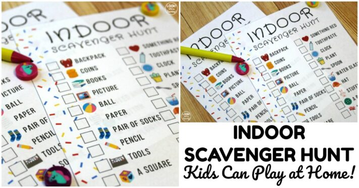 Fun Printable Indoor Scavenger Hunt for Kids