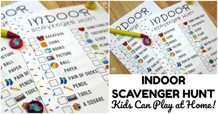 Fun Printable Indoor Scavenger Hunt for Kids