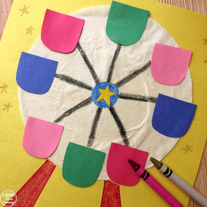How to Make an Easy Coffee Filter Ferris Wheel Craft