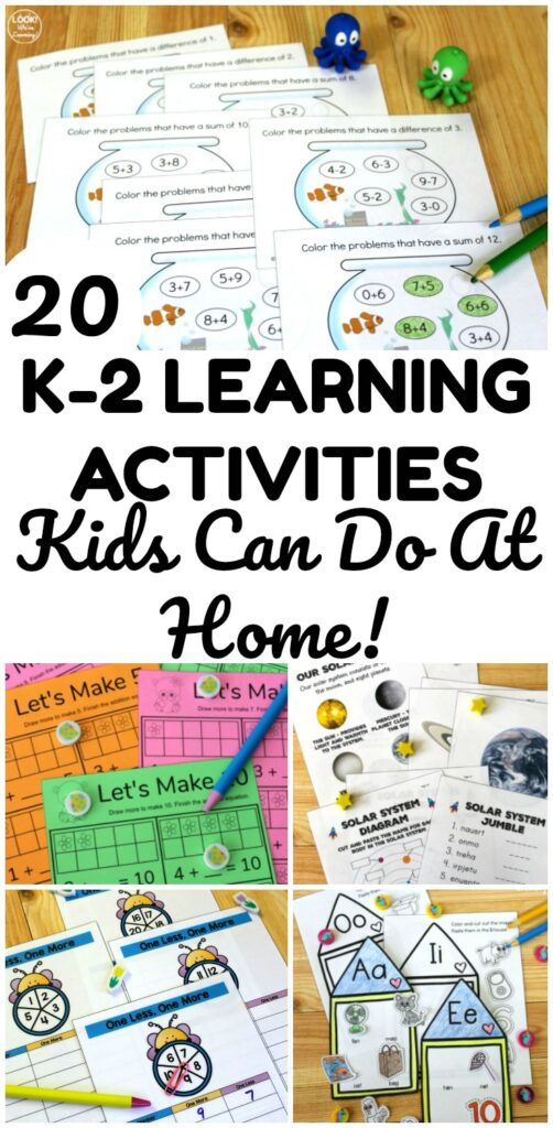 Make learning at home fun with this list of k-2 learning at home resources! Great for working on early elementary concepts at home!