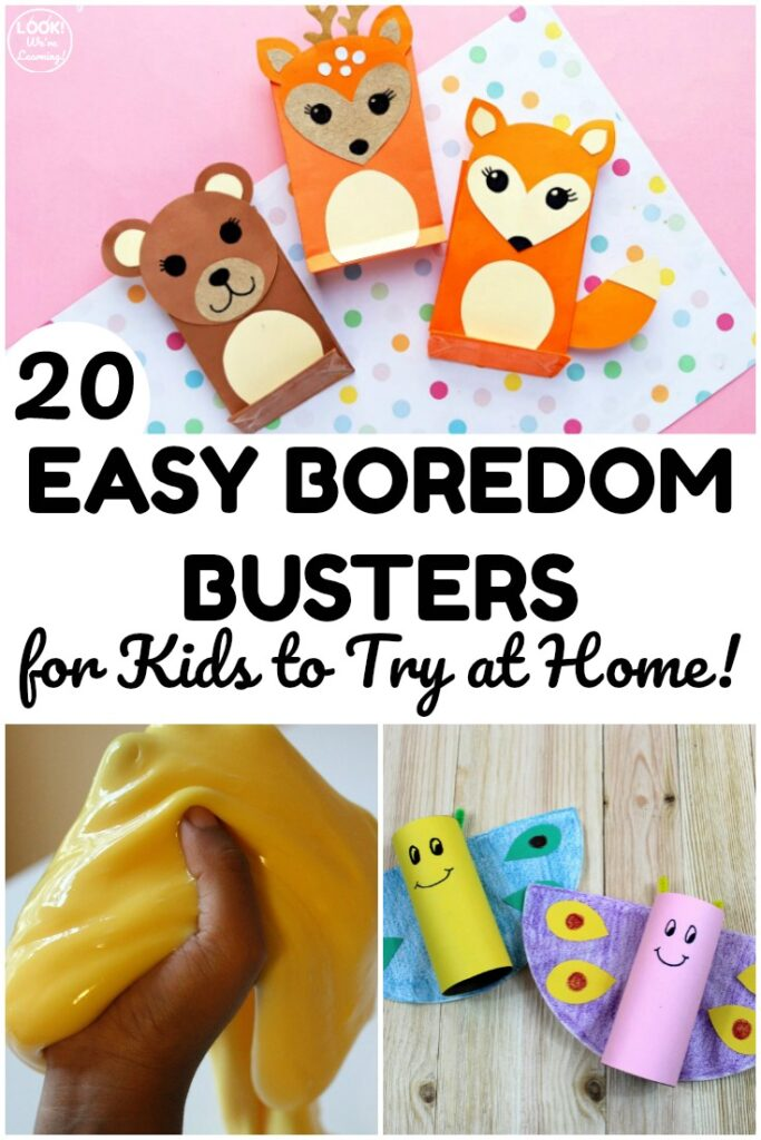 Make the most of time at home with these easy boredom busters for kids! Great for school breaks, summer vacation, and more!