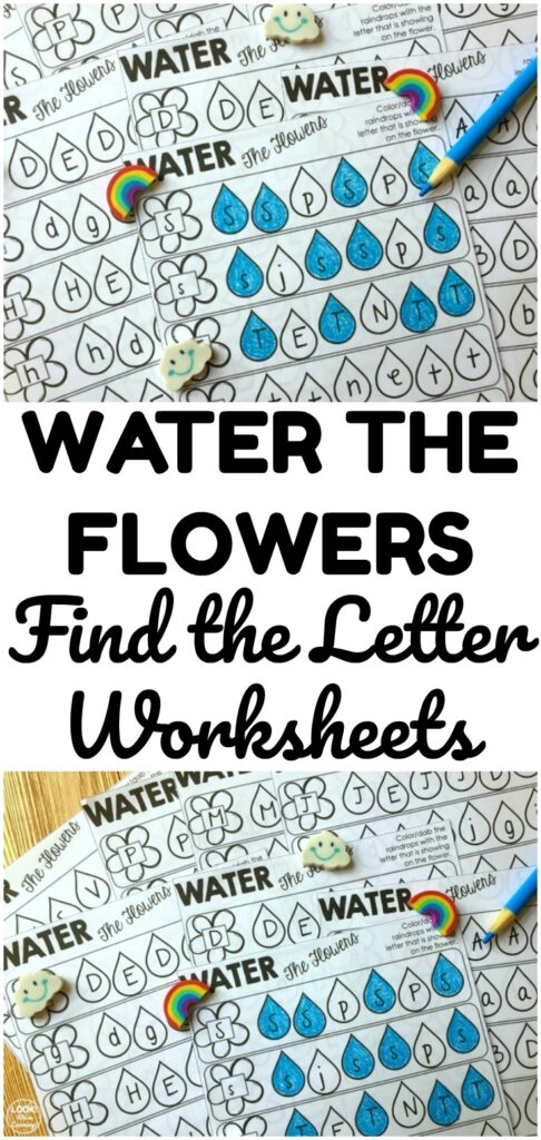 Practice finding uppercase and lowercase letters with these spring-themed Water the Flowers Find the Letter Worksheets! Perfect for early learners!