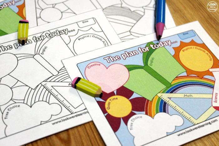 Printable Homeschool Day Planner for Kids