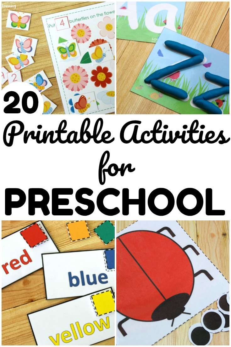Share these printable preschool resources with early learners at home or in school! Perfect for hands-on early learning!