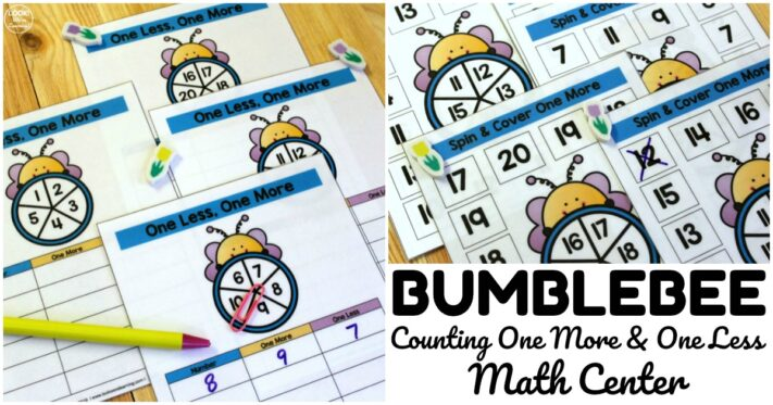Simple Bee Themed Counting Math Center
